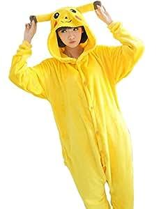 Jaune pajamas Pyjama/costume pour adulte en forme à l'effigie de Jaune des Pokémon