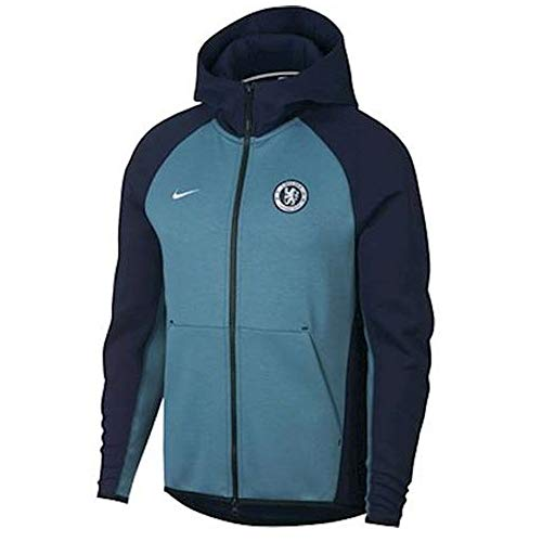 Nike 2018-2019 Chelsea Techfleece Authentic Hoody (Obsidian)