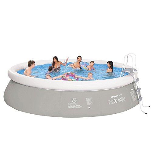 Jilong Prompt Set Pool Marin Grey 540H Set – Quick-up Pool 540x122cm, mit Filterpumpe und Kartusche, Leiter, Boden- und Abdeckplane - 6