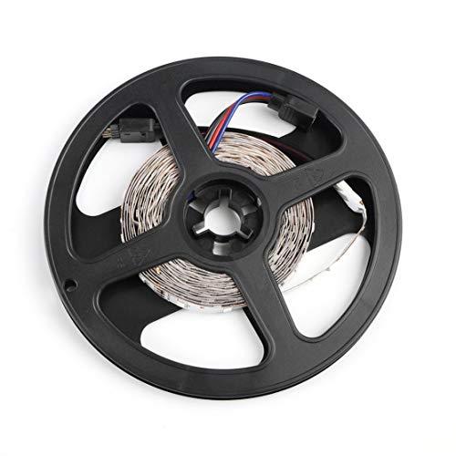 5M 16ft 3528 SMD RGB 300 LED Luz flexible LED Tira adhesiva Lámpara 12V Alta intensidad y confiabilidad Bajo consumo de energía blanco con negro Kaemma