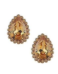 Anuradha Art Gold Finish Oval Shape Designer Fancy Studs Earrings For Women//Girls