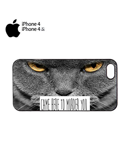 Came Here To Murder You Cat Kitten Meow Mobile Cell Phone Case Cover iPhone 6 Black Noir