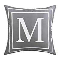 jasminelady Simple Letter Print Throw Pillow Case Cushion Cover Pillowcases Home Car Office Decoration M
