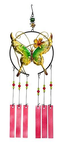 The Paragon Schmetterling Windspiel-Glas Windspiel Zum Aufhängen ist der Perfekte Garten Dekoration