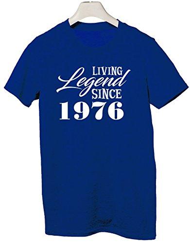 Tshirt Living legend since 1976 - idea regalo compleanno - happy birthday - Tutte le taglie by tshirteria Blu