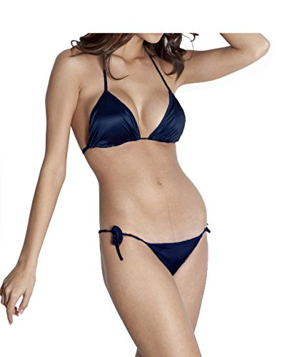 You Forever Solid Navy Blue Lingerie Sets