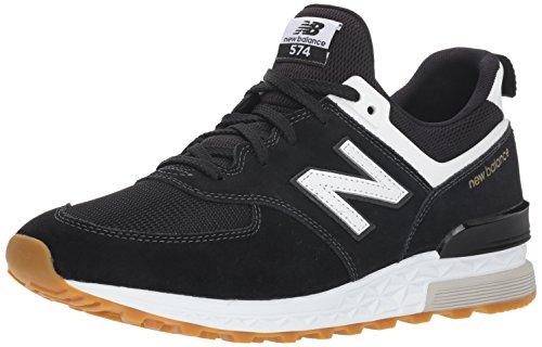 New Balance Herren 574S Sneaker, Schwarz (Black/White FCB), 44 EU