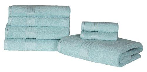 Highams Luxuriöse 100% ägyptische Baumwolle 7Stück Handtuch Bale Aqua (Egyptian Cotton Bath Sheet)