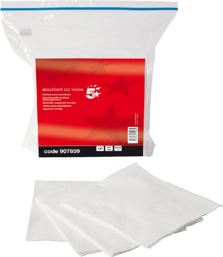 5 Star Absorbent Wipes General Purpose Cleaning Lint Free [Pack of 50]