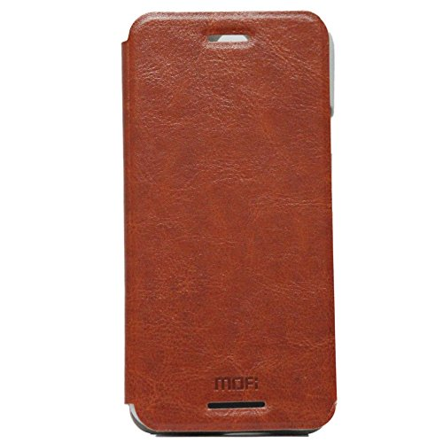 Mofi Leather Flip Cover Case With Slim Back Stand For Htc One (E8) Brown  available at amazon for Rs.140