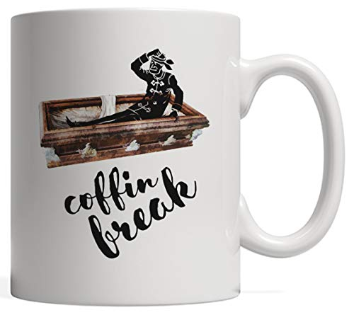 Funny Vampire Gift | Coffin Break, Pun Coffee Mug - For Horror & Terror Lovers! Blood, Fangs and...
