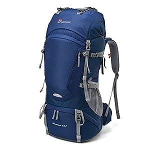 MOUNTAINTOP 55L/65+5L Trekkingrucksack Wanderrucksäcke für Camping, Wandern, Bergsteigen, Reisen mit Regenhülle