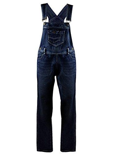 Anna-Kaci Frauen-Denim Blue Jeans Gerades Bein Taschen - Denim Overall Kostüm