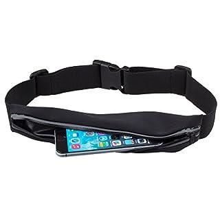 Laufgürtel Gürteltasche für Handy und Zubehör von Moozy® - Wasserdicht Bauchtasche Hüfttasche mit Reflektierendem Zipper für Sport Jogging Running