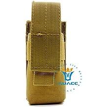 Equipo multifunción de supervivencia táctica, bolsas M5con funda de linterna, para el aire libre, camping, portátil, funda para herramientas, cuchillo, spray o linterna, KH