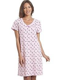 Chemise de nuit avec imprimé floral - femme - rose