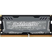 Ballistix  BLS8G4S240FSDK Sport LT - Memoria RAM de 8 GB (DDR4, 2400 MT/s, PC4-19200, SR x8, SODIMM, 260-Pin) gris