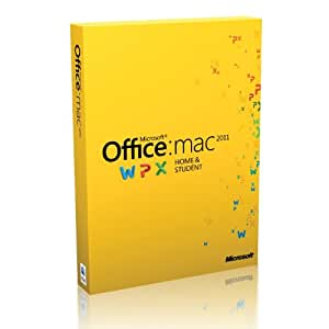 Microsoft Office for Mac Home and Student 2011, Licence Card, 1 User