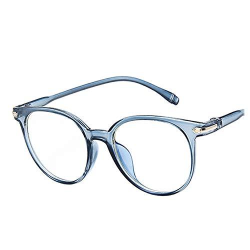 Vikenner Damen Herren Brillengestell Sonnenbrille Rahmen Dekorative brille Rahmen Literarische Brillengestell Hellblau