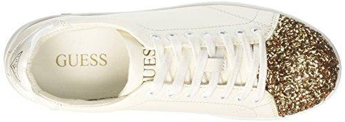 Guess Super Sneakers Punta Lurex Pelle White Bianco FLSPR3-LEA12 Multicolore (Whigo)