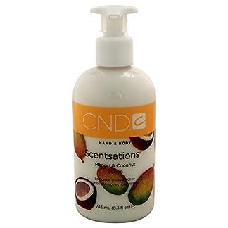 Creative Nail Design y Mango Moisturizing Lotion Scentsations Coconut- para manos y cuerpo – mango perfume y coco 245 ml nueces