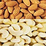#6: Ancy 100% Natural Jumbo Almonds and Cashews (Badam and kaju), 1 kg (Pack of 4x250 Gms| 2 Pack Almonds and|2 Pack cashuw