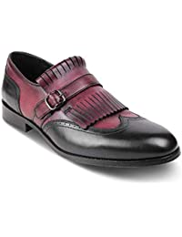 tresmode Mens Leather Kiltie Loafers