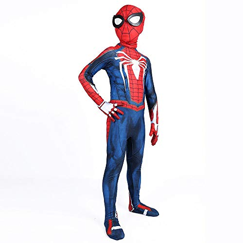 Spiderman Skinny One Piece PS4 Spiel Halloween Kostüm Ball Cosplay Erwachsene Kinder Performance Kleidung,Kid-L