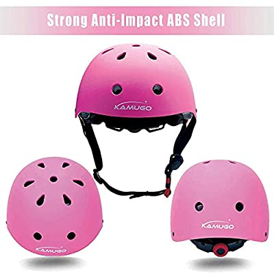KUMUGO Kids Protective Gear Set, Kids Childs Childrens Skate Helmet Knee Pads Elbow Pads Wrist Guards for Skateboard Bike BMX Cycle Roller Skating and Stunt Scooter 3-8 Years Old Boys Girls by Kamugo