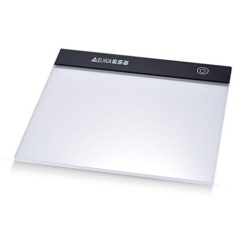 Aibecy Portable A5 LED Light Box Zeichnung Tracing Tracer Copy Board Tischplatte Panel Copyboard mit stufenloser Helligkeitskontrolle USB-Kabel für Künstler Skizzieren Architektur Kalligraphie (Panel Skizzieren)