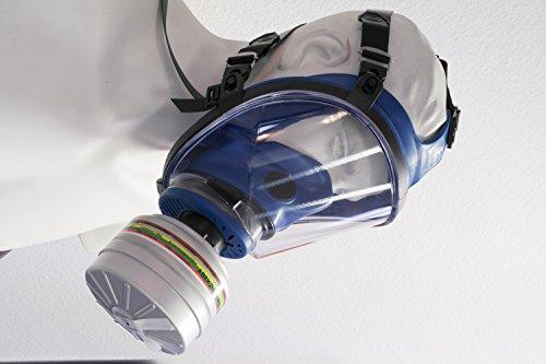 RESTPOSTEN Atemschutzmaske Atemmaske Vollmaske Klasse 2 EN 136 Rundgewindeanschluss Rd40 Normaldruckausführung - 2