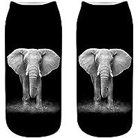 OHlive Suave Las Mujeres Elefante 3D Impreso Zapatillas de Deporte Calcetines Tobillo Calcetines (1 par-DX02-One Size) (Color : DX02, tamaño : Talla única)