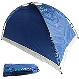 FE Active - Zelt für 1 bis 2 Personen mit Fliegengitter am Eingang, schnell und einfach aufgebaut, wasserabweisend für Zelten, Rucksackurlaub, Wandern, Radtouren | In Kalifornien, USA entworfen