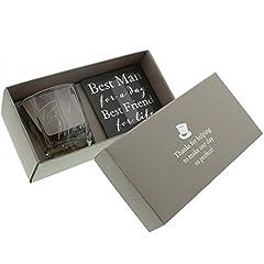 Idea Regalo - Amore di Juliana Bicchiere Per Il Whisky & Sottobicchiere - Best Man regalo di nozze