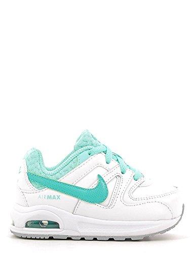 Nike Unisex – Bimbi 0-24 Air Max Command Flex Ltr Td scarpe sportive Blanco (White / Clear Jade-Hyper Turq)