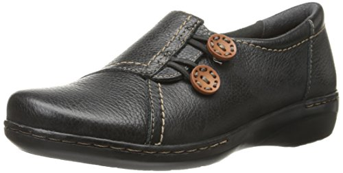 Clarks Evianna sécurisé Flat Black Leather