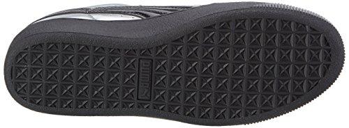 Puma Damen Vikky Platform Metallic Sneakers Grau (puma silver-puma black 02)