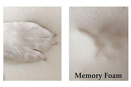 tierlando® Orthopädische Hundematratze ALICE VISCO aus robustem Polyester 600D | Antirutsch | 9 cm | 60 80 100 120 150 cm S M L XL XXL 10 Farben (S 60 x 40 cm, 26 Olive) - 4