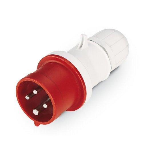 Scame 213.1636P Conector Eléctrico 415 V, Rojo