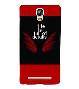 PrintVisa Quotes & Messages Angel 3D Hard Polycarbonate Designer Back Case Cover for Gionee Marathon M5 Plus