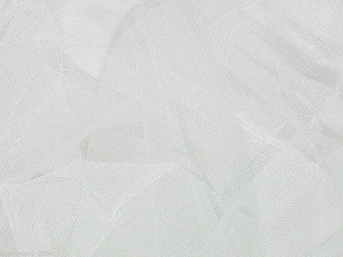 Color blanco vestido de tul red tela 140cm de ancho
