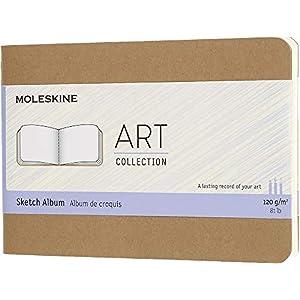 Moleskine Kreativ Notizbücher (Skizzenalbum, Pocket, A6, 120G-Papier, Kartoneinband) packpapierbraun