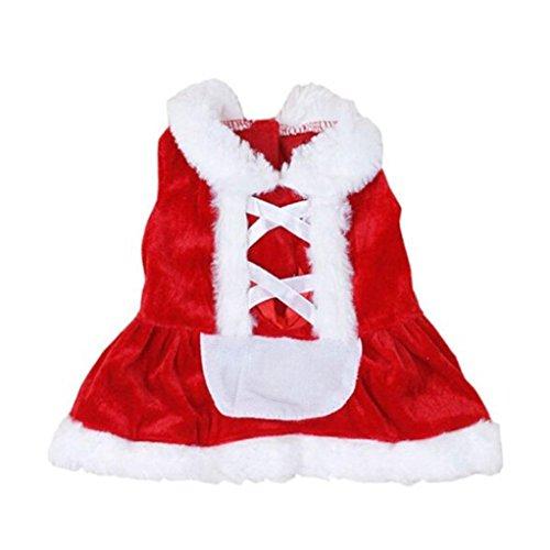 LHWY Weihnachten Hund Kleidung Rot Santa Doggy Kostüme Schmuck Haustier Bekleidung Neues Design (S, (Tägliche Dog Mail Kostüm E)