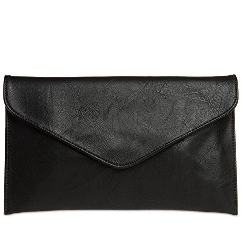 CASPAR TA310 Damen Envelope Clutch , Farbe:schwarz
