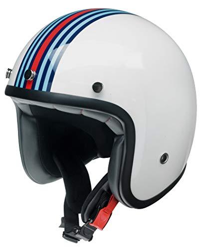 Kochmann Redbike Motorradhelm L weiß blau rot RB 768 Motorrad Roller Helm