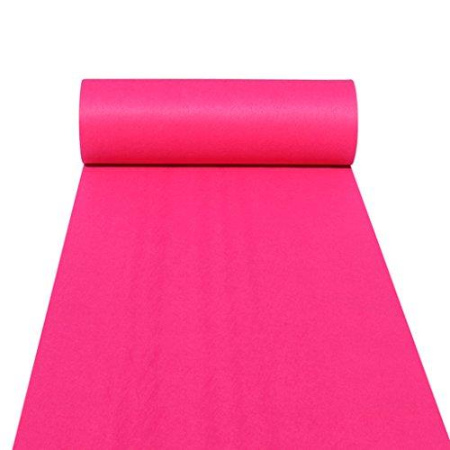 nner Teppichläufer für Hall Stair Party Hochzeit Hochzeit Aisle Carpet Runner Echtes Rosa (Color : Pink, Size : 1m*20m) ()