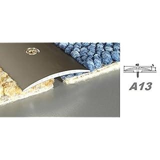 Aluprofile, Alu Bodenleiste Übergangsleiste Profil zum verschrauben 40x5mm, A13, Länge:0.93 Meter, Farbe:Champagne
