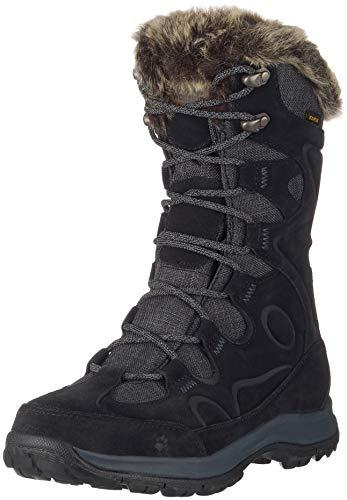 Jack Wolfskin Glacier Bay Texapore High W, Chaussures de Randonnée Hautes Femme, Beige, 45 EU