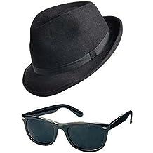 Blues Brothers-Chapeau   Lunettes de soleil tons Fancy Dress Ensemble  déguisement Gangster cerf 688234c25c08