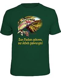Original RAHMENLOS T-Shirt für Angler und Fischer: Zum Fischen geboren, zur Arbeit gezwungen.